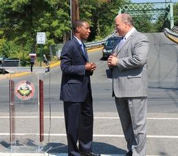 Senate President Steve Sweeney Visits Roselle Bridge to Address NJ Infrastructure, photo 5