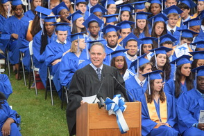 CBS News Anchor Jim Axelrod Takes Selfie During Commencement Address to 522 Montclair H.S. Graduates, photo 12