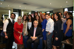 Staff, Friends and Family Welcome Mayor Rudy Fernandez to Dieci Uomo