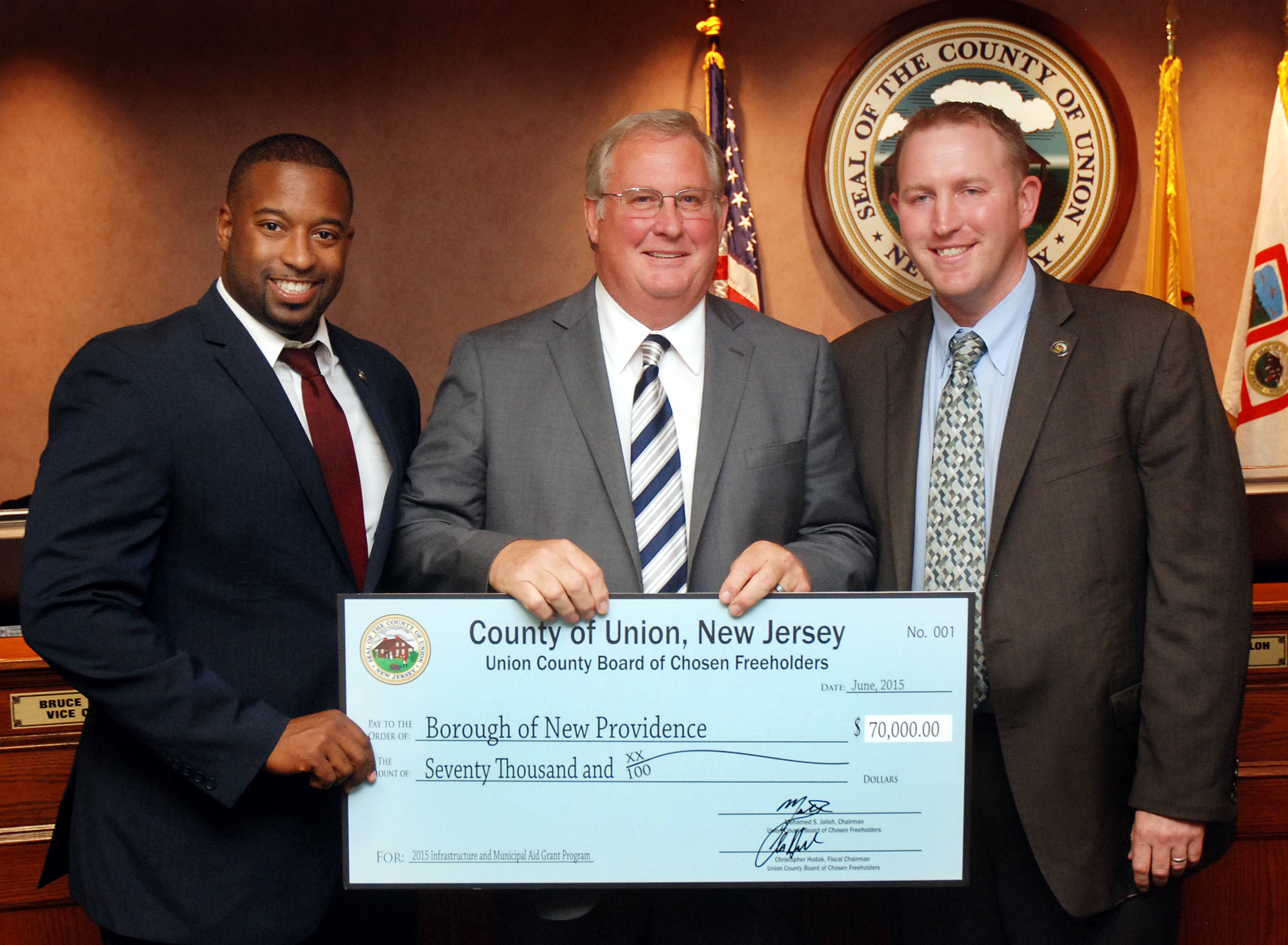 Union County Awards $70,000 Infrastructure Grant to New Providence