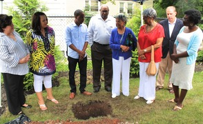 Roselle Community Joins Dr. Polk Family and Plants Time Capsule, photo 6