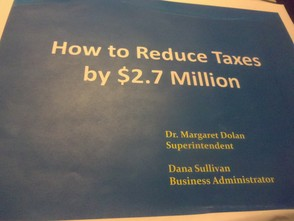 Slide:How to reduce taxes by $ 2.7 million