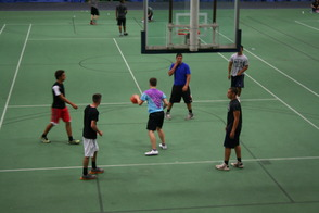 Basketball FUN at Project Graduation 2014