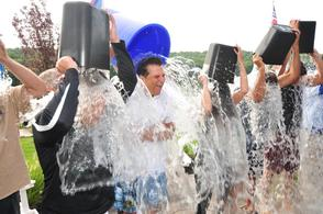 Essex County Executive DiVincenzo and Sherrif Fontoura Take the Ice Bucket Challenge