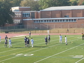 Millburn Attempts a Corner Kick