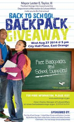 East Orange Mayor Hosts Back To School Backpack Giveaway, photo 1