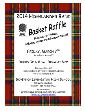 2014 Annual Governor Livingston Highlander Marching Band Basket Raffle, photo 2