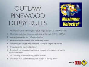 Warren Township Cub Scouts to Hold First Pinewood Derby Outlaw Race, photo 2