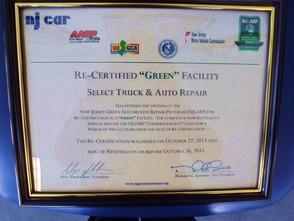 NJ Green Certification