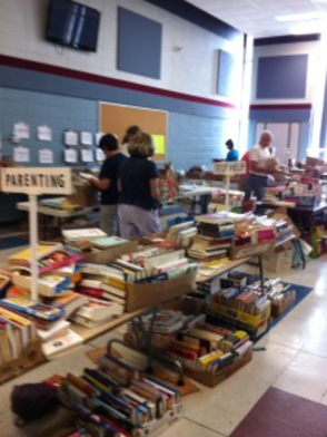 Charity Book Sale Begins