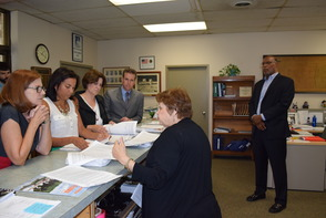 Coalition submitting Petitions to Montclair Municipal Clerk Wanat