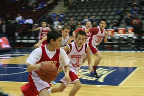 7th Grade Travel Basketball Team Plays at Seton Hall University Game, photo 3