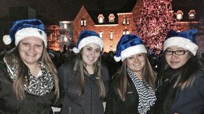 SHU Santa hats