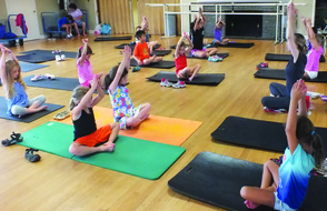 Kids and Adults can stay active this winter with fitness classes including Yoga!