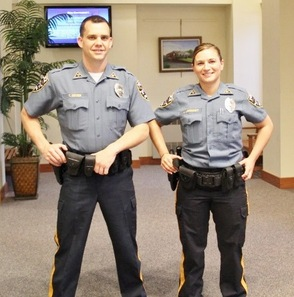 Patrolmen Thomas Snyder and Andrea Lippencott