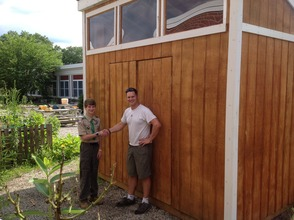 Eagle Scout David Champion Builds Storage Shed for Lazar