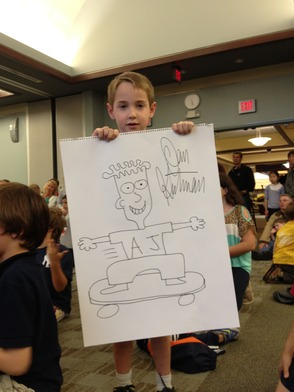 Attendee Wins Gutman Drawing of AJ