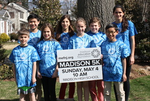 Madison students are gearing up for the 11th Annual Madison 5K on Sunday, May 4, 2014 at 10am at Madison High School: Scott Sullivan, Jett Tom, Lauren Fowler, Madelyn Reyda, Charlotte Sullivan, Brendan Fowler, Keaton Tom and Victoria Reyda.