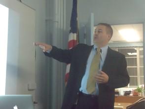 Brian Auker giving his presentation