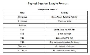 Non-Competitive Schedule