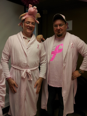 The men even get into the pink party