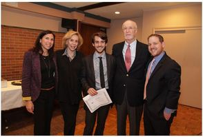 Alex Ehrlich is awarded the Temple Emanu-El Marvin Mesnick College Scholarship