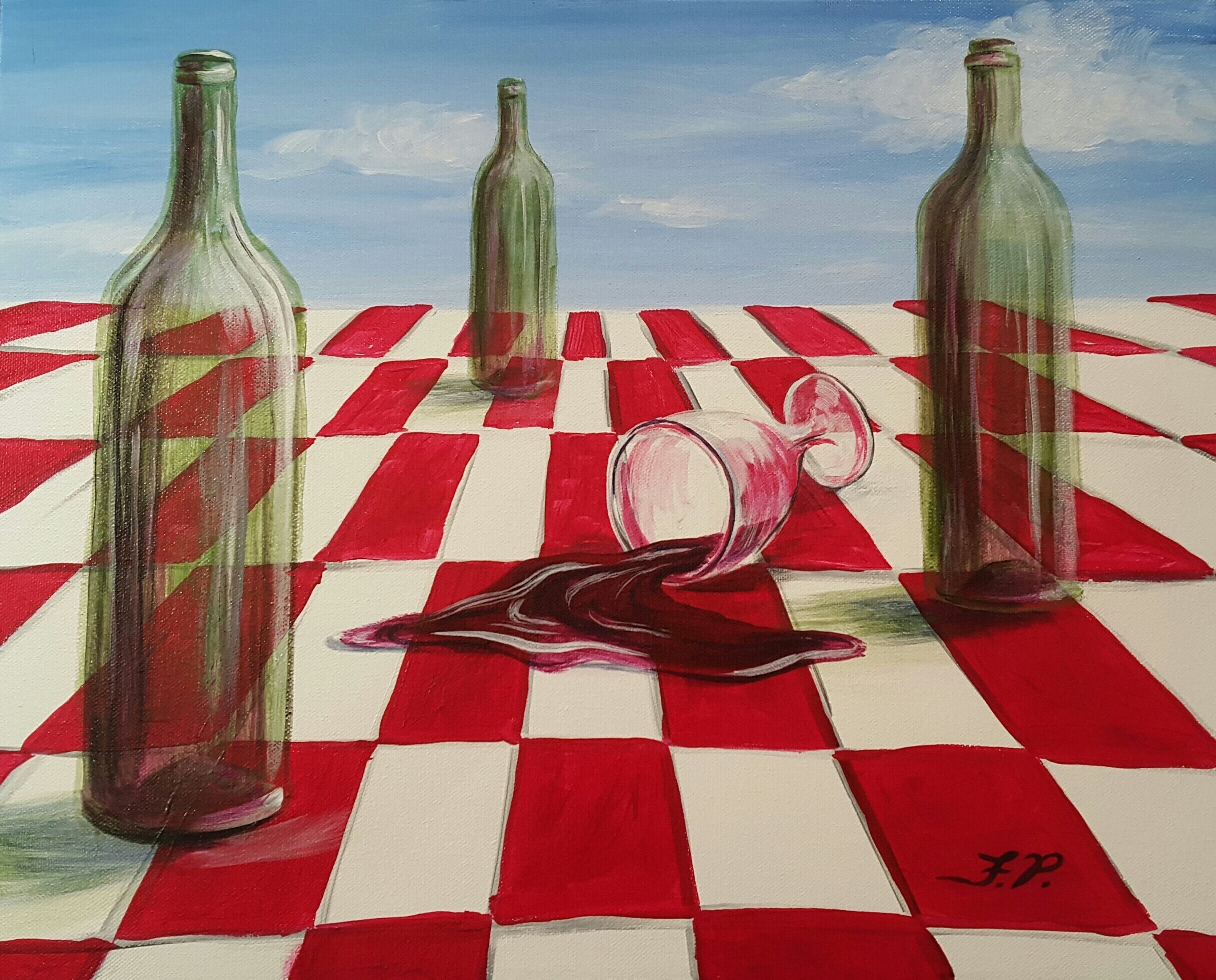 Amateur Paint and Sip Class- Spilled Wine - TAPinto