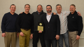 George Stewart honored as the New Jersey Suburban Youth Football League Coach of the Year