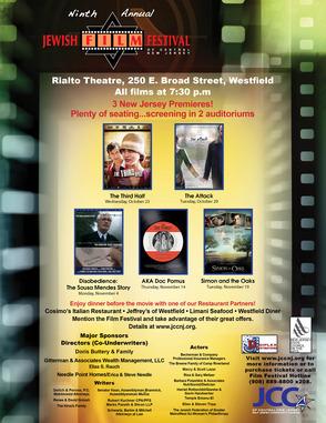 Westfield's Rialto Theatre to Host JCC's Jewish Film Fest Oct. 23 to Nov. 19, photo 1