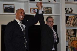 Cory Booker and Dave Haas