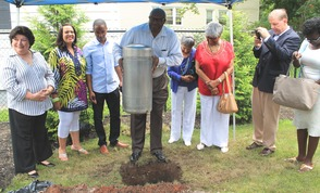 Roselle Community Joins Dr. Polk Family and Plants Time Capsule, photo 11