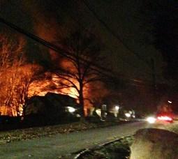 Fire on Hooper Avenue