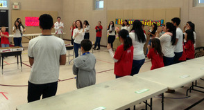 School One students doing the Mexican Hat Dance