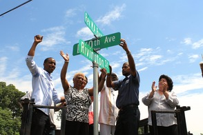 Roselle Honors Rev. Milton A. Byrd with Street Sign, photo 4