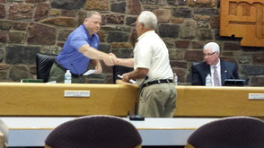 Montgomery Township Donates $7,500 to Historical Society, VNA-Community Services, photo 1