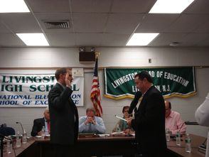 Steven K. Robinson swears in Ronnie Spring