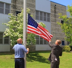 Raising the Flag Presented by the Congressman