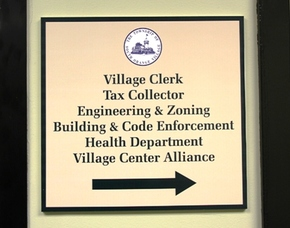 Village Clerk Sign