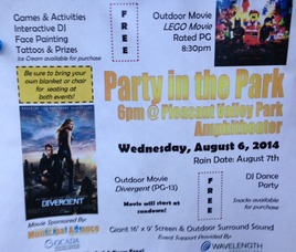 'Party' in Pleasant Valley Park