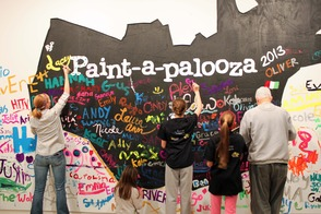 Painting enthusiasts at Paint-a-palooza 2013.