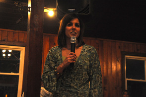 Alicia Ferrante speaks to attendees at the event.