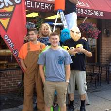 Staff at Nick's Pizza take the ALS Ice Bucket Challenge