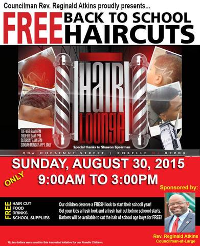 free haircut sports roselle councilman sponsors back to school free haircut 2243
