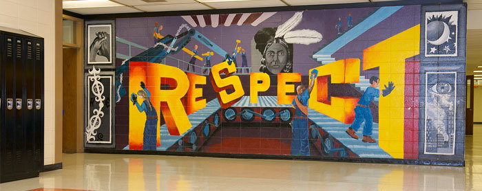 Piscataway township high school receives a grade in niche for Mural for school