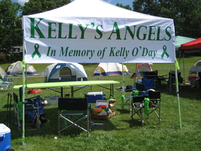 Kelly's Angels tent at Relay for Life in June 2012