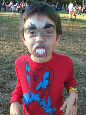 2nd grader transformed at Wyoming School's Fall Festival