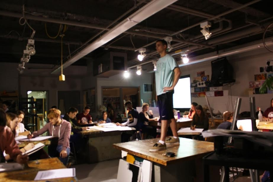 Strike A Pose: SEF Grant Brings Live Figure Model to Summit H.S.