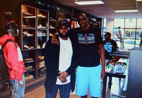 Owner Phillip Bobbitt with NBA Player Kevin Durant