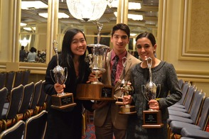 MTHS Forensics Team Members with Trophies