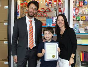 Kid President Alex James visits the UPS Store